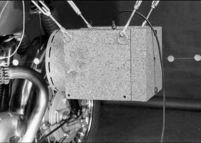 Modal 50 Schwingerreger- Anregung Motorrad