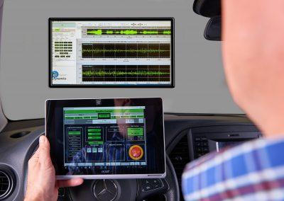 Remote Tablet zur Bedienung aus dem Fahrzueg